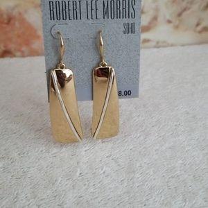 New Robert Lee Morris Geometric Drop Earrings